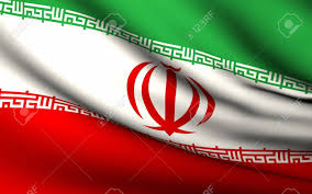 Flying Flag Flying Flag Of Iran All Countries Collection Stock Photo
