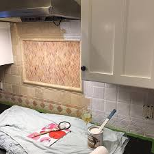 painted kitchen backsplash ideas how to painting tile backsplash