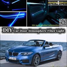 5 light interior door for bmw 2 f22 f45 interior ambient light tuning atmosphere fiber