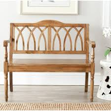 Home Benches Safavieh Benjamin Oak Bench Amh6500e The Home Depot