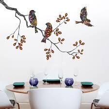 Tree Branch Home Decor Bird And Owl Wall Stencils Stickers And Coordinating Home Decor