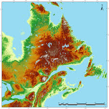 Map Of North East Redditpics Topographic Hillshade Map Of North East North America