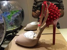 size 34 42 women u0027s 12cm high heels peep toe back red spikes pumps