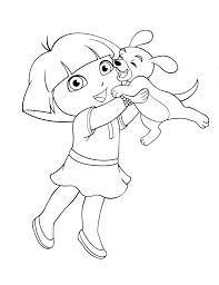 coloring pages dora coloring pages backpack diego boots swiper