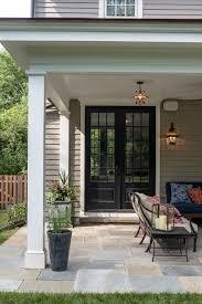 black french doors patio