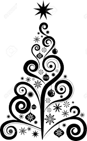 fancy christmas tree clip art u2013 merry christmas u0026 happy new year arts