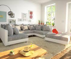 design wohnlandschaften sofa zita 290x220 weiss hellgrau schlaffunktion home