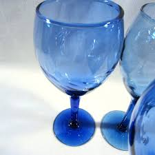 blown glass wine glasses italian blown glass wine glasses set of 2