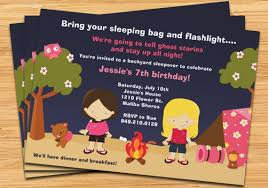 Backyard Birthday Party Invitations Camping Birthday Party Invitations Plumegiant Com