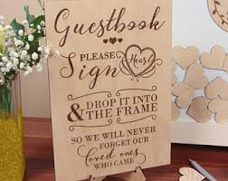 engravable wedding guest book wedding guest book sign engraved wedding sign for guest book