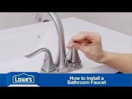 Install Bathroom Faucet How To Install A Bathroom Faucet Youtube