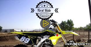 motocross action videos motoxaddicts first ride 2017 suzuki rmz 250