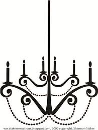 Black Chandelier Clip Art Chandelier Clip Art Intended For Present Household