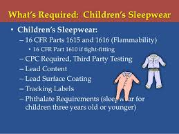 2013 flammability requirements for apparel and sleepwear drawstring