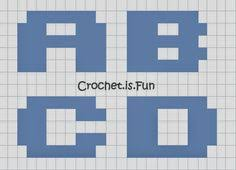 crochet is fun free pattern alphabet graph kopiah pinterest