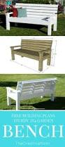 diy sturdy garden bench free building plans create pinterest