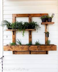 Garden Wall Planter by Diy Vertical Herb Garden And Planter 2x4 Challenge