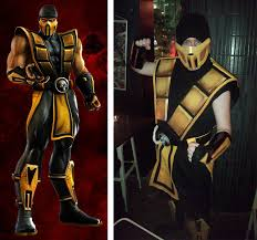 Scorpion Costume Neko To Meoto Costume Creation Scorpion From Mortal Kombat