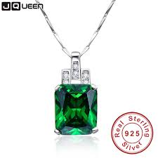 silver emerald necklace images Buy high quality emerald necklace jewelry 6 95ct jpg