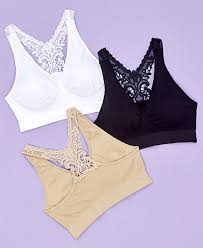 Comfort Bras Set Of 3 Butterfly Back Comfort Bras Ltd Commodities