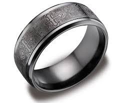 Mens Black Wedding Rings by Mens Titanium Wedding Rings Wedding Promise Diamond