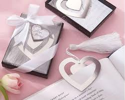 christening party favors home party favors heart metal bookmarks with tassels baby