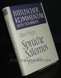 sprüche salomos sprüche salomos proverbia otto plöger biblischer