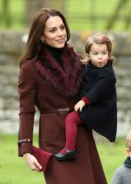 Englefield Berkshire Prince George Walked Along Holding His Father U0027s Hand While