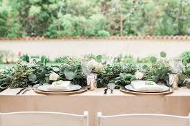 wedding table decor reception décor photos lush foliage table décor inside weddings