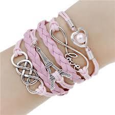 leather bracelet styles images Multi part adorned leather bracelets multiple styles rebel jpg