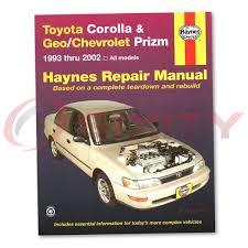 2008 toyota corolla owners manual toyota corolla haynes repair manual s ve dx ce base le shop