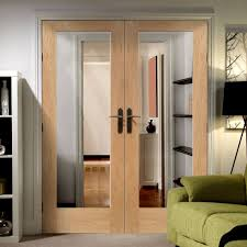 Door Pattern Pattern 10 Oak French Door Pair With Clear Safety Glass