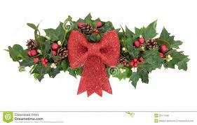 Mistletoe Decoration Decorative Christmas Spray Stock Photo Image Of Background 33117646