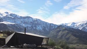 origami like alpine cabin brings contemporary style to chile u0027s
