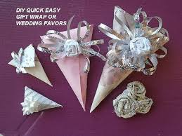 How To Wrap Wedding Gifts - easy gift wrap for small gifts cone shape wedding favors youtube