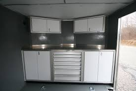 v nose enclosed trailer cabinets photos of trailer vehicle lightweight aluminum cabinets moduline