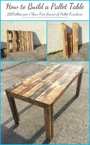 How To Make Pallet Patio Furniture by Diy How To Build A Pallet Table 101 Pallets