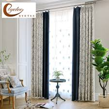 Curtains For Doors With Windows Byetee Blackout Window Modern Luxury Curtain Fabric Living Room
