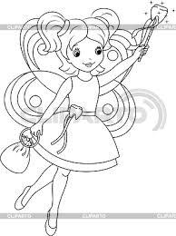 tooth fairy coloring page coloring page serie of high quality graphics cliparto