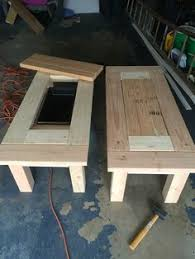 Patio Coffee Table Ideas Patio Table W Built In Cooler I Made Out Of Pallets Craft Ideas