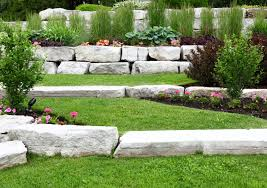 using armour stone to build a retaining wall grand river stone ltd