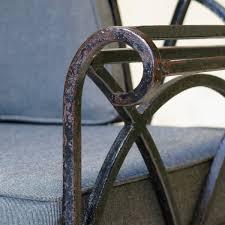 french wrought iron settee circa 1940s xavier nicod