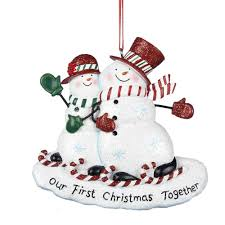 amazon com our first christmas together snowcouple ornament