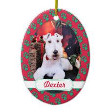 wire fox terrier christmas tree decorations u0026 ornaments zazzle co uk
