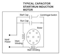 single phase motor wiring diagram with capacitor start circuit