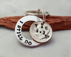traditional 10th anniversary gifts dime keychain etsy