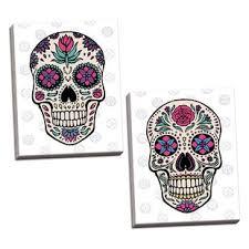 sugar skull wall wayfair