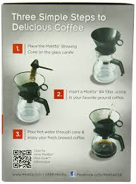 amazon com melitta coffee maker 6 cup pour over brewer with
