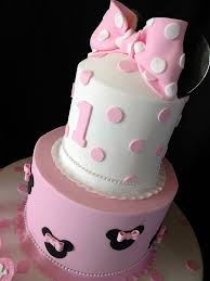 pink minnie mouse first birthday cake cumple jana pinterest