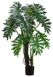 silk plants silk plants direct plume split leaf plant pack of 2 tropical
